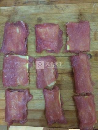 火腿奶酪炸猪排的做法步骤:6