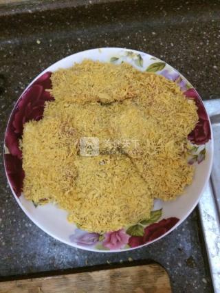 火腿奶酪炸猪排的做法步骤:9