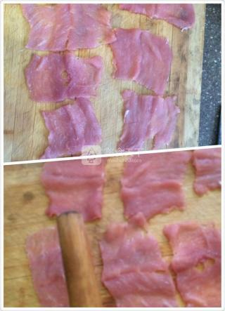 火腿奶酪炸猪排的做法步骤:3