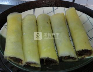 香煎梅菜卷的做法步骤:12