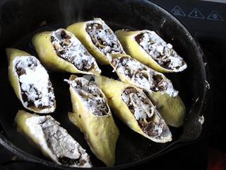 香煎梅菜卷的做法步骤:15