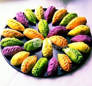 彩色柳叶饺子!的做法步骤:15